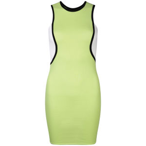 Influence Women's Piping Sport Bodycon Dress - Lime