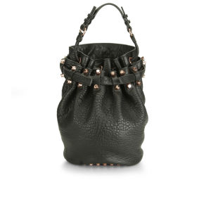 Alexander Wang Diego Pebbled Leather Bag - Black/Rose Gold