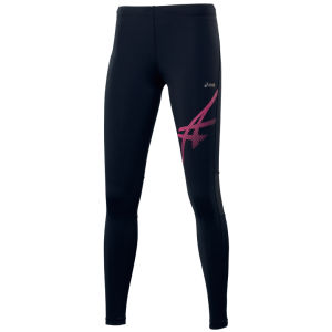 Asics Women's Tiger Running Tights - Black/Pink