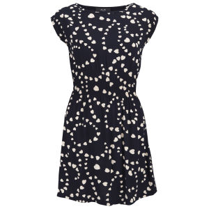 AX Paris Women's Heart Print Dress - Black