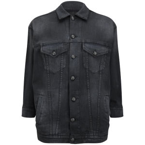 R13 Women's Oversized Trucker Jacket - O.D Black