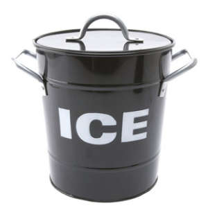 Ice Cooler Tin with Scoop - Black