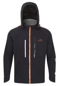 RonHill Men's Vizion Storm Jacket - Black/Fluo Orange