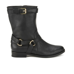 Lauren Ralph Lauren Women's Jael Leather Riding Boots - Black