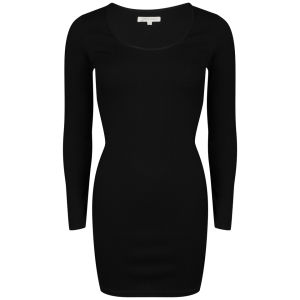 Glamorous Women's Long Sleeve Textured Mini Dress - Black