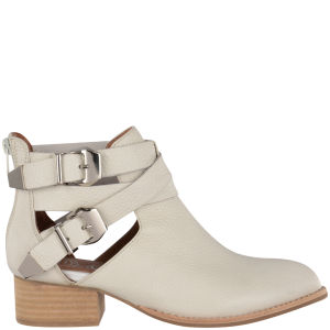 Jeffrey Campbell Women's Everly Leather Ankle Boots - Off White