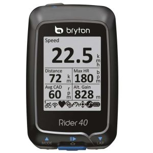 Bryton Rider 40T with HRM Monitor and Cadence Speed Sensor