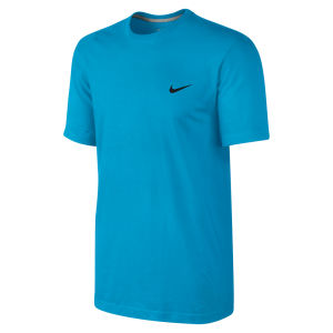 Nike Men's Embroidered Swoosh T-Shirt - Vivid Blue