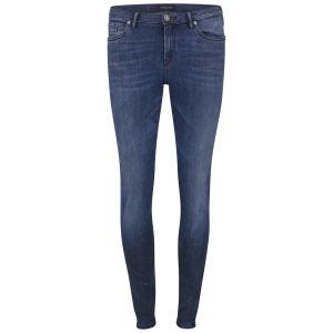 Maison Scotch Women's Mid Rise Voyage Skinny Jeans - Blue