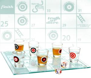 Snakes and Ladders Shot Glass Set