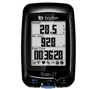 Bryton Rider 21T with HRM Monitor and Cadence Speed Sensor