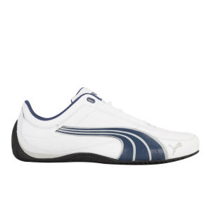 Puma Men's Drift Cat 4 Trainers - White/Navy/Denim