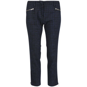 YMC Women's Crop Zip Trousers - Blue