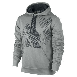 Nike Men's KO Block Logo Hoody - Grey Heather