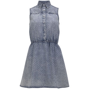 Neon Rose Women's Spot Denim Shirt Dress - Denim
