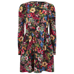 Love Moschino Women's Long Sleeved Flower Dress - Multi