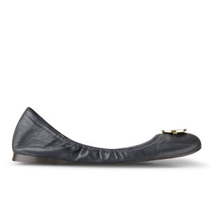 Lauren by Ralph Lauren Women's Brittany Leather Ballet Pumps - Modern Navy