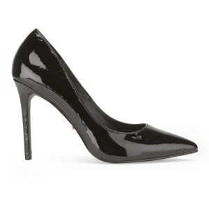 KG Kurt Geiger Women's Bailey Leather Point Toe Court Shoes - Black