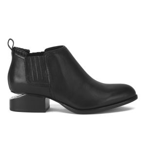 Alexander Wang Women's Kori Leather Ankle Boots - Black/Rhodium