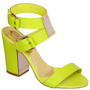 Ted Baker Women's Lissome Block Heeled Sandals - Green Leather