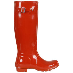 Hunter Women's Original Tall Gloss Wellies - Brick