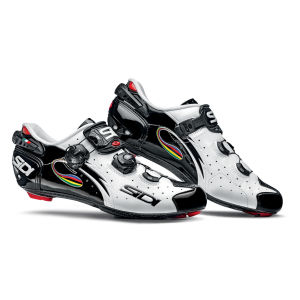 Sidi Wire Carbon Vernice Cycling Shoes - White/Black/Rainbow 2014