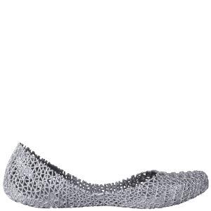 Melissa Women's Campana Papel 11 Ballet Flats - Silver Glitter