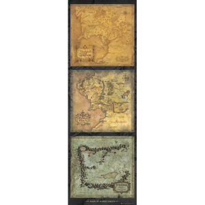 Lord of the Rings Maps of Middle Earth - Door Poster - 53 x 158cm