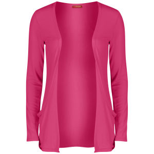Influence Women's Jersey Long Sleeve Cardigan - Hot Pink