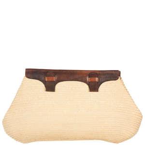 Gabrielli Vittorio Vintage Oversized Straw Clutch Bag