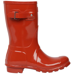 Hunter Women's Original Short Gloss Wellies - Brick