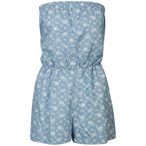 AX Paris Women's Denim Floral Playsuit - Floral