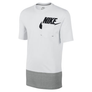 Nike Men's Futura Pocket T-Shirt - White/Grey