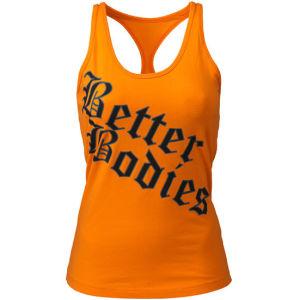 Better Bodies Printed T-Back Tank - Bright Orange