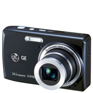 GE J1456W Digital Camera - Black (14MP, 5 x Optical, 2.7 Inch LCD)