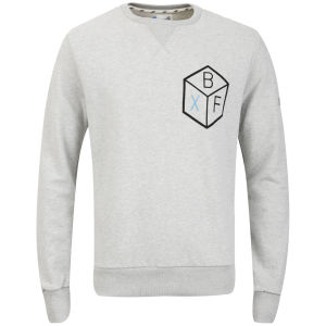 Boxfresh Men's Hivochel Crew Neck Sweatshirt - Grey Marl