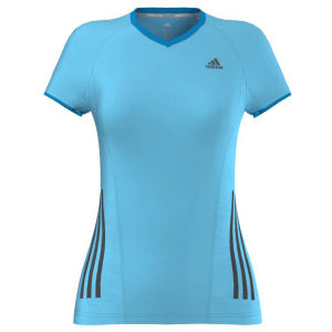 adidas Women's Supernova Short Sleeve Running Tee-Shirt - Samba Blue/Solar Blue