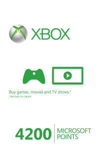 Xbox Live 4200 Points Card