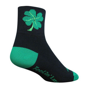 SockGuy Lucky Black Cycling Socks