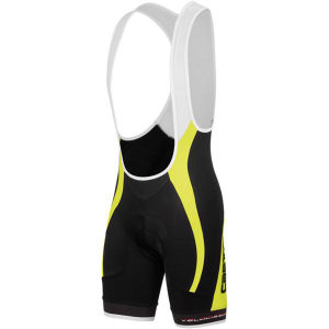 Castelli Velocissimo Gt Bib Shorts - Black/Yellow Fluo