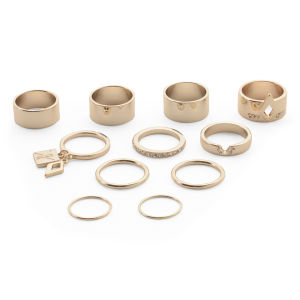 Kardashian Kollection KK 11 Piece Ring Stack Set - Gold