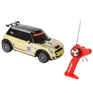 Race Tin: Mini Cooper Remote Control Car - Yellow and Black