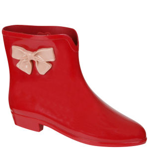 Mel Women's Bow Ankle Boots - Red