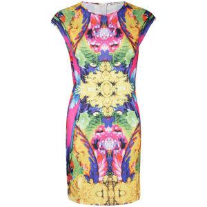 Brave Soul Women's Mirror Tropical Print Shift Dress - Multi