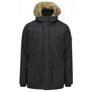 Ringspun Men's Mike Ripstop Parka Coat - Black