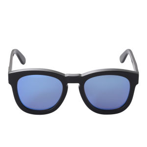 Wildfox Classic Mirror Sunglasses - Black/Blue