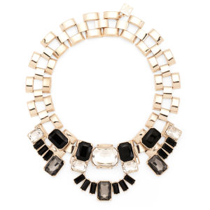 Kardashian Kollection KK Stone Statement Collar Necklace - Gold