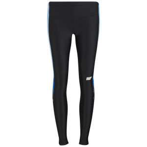Dcore Women's FT Athletic Tights, Plain Black