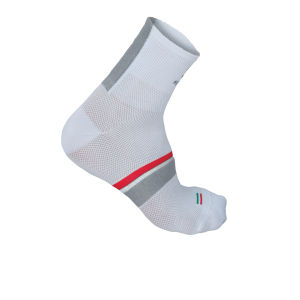 Sportful BodyFit Pro Socks 9 - White/Anthracite/Green
