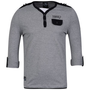 Benzini Men's Lendal Long Sleeve T-Shirt Grey Marl